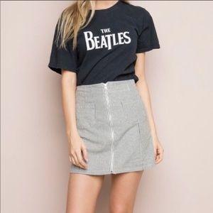 brandy melville striped pocket skirt